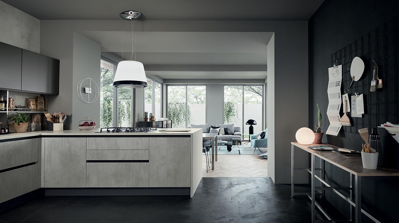 Μοντερνα επιπλα κουζινας VENETA CUCINE, VENETA AVANT μοντέλο oyster decorativo