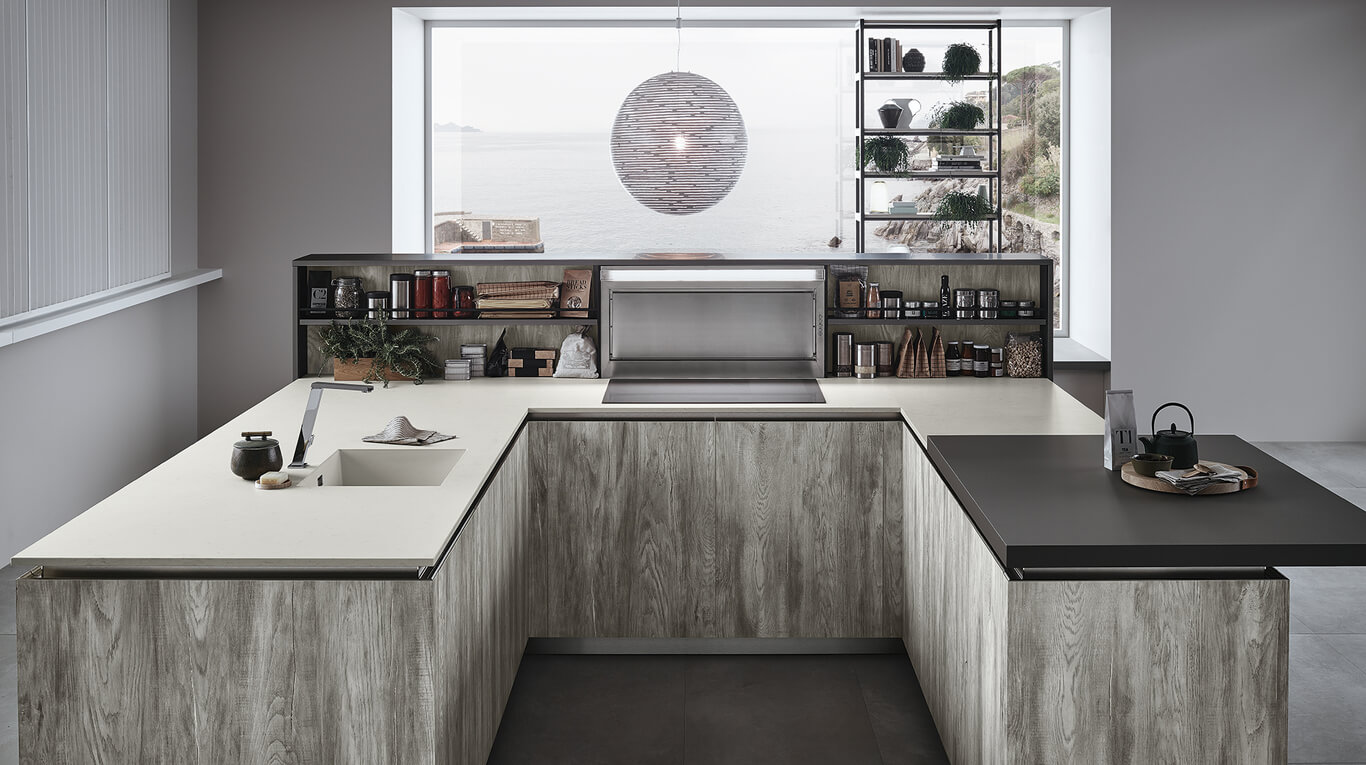 Μοντέρνα επιπλα κουζινας απο την Veneta Cucine-Veneta Avant μοντέλο LOUNGE