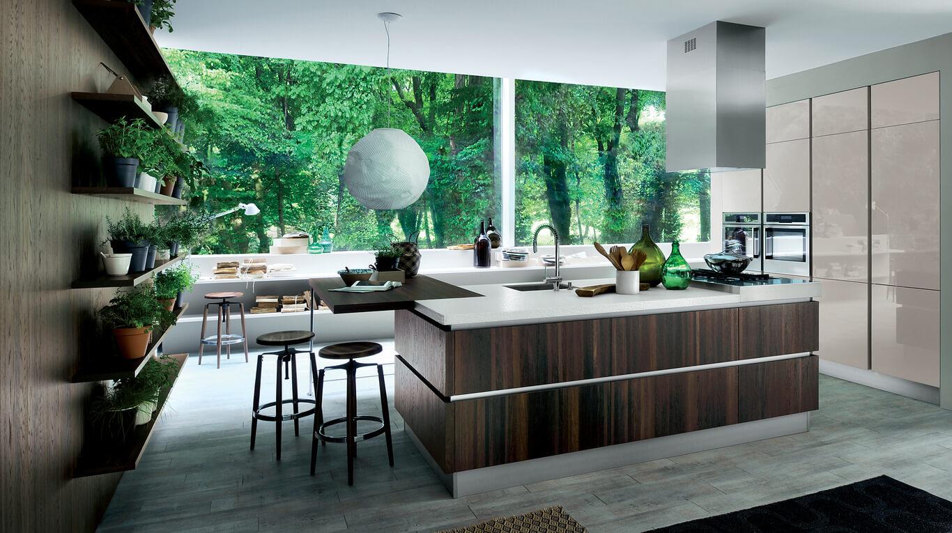 Μοντέρνα επιπλα κουζινας απο την Veneta Cucine-Veneta Avant μοντέλο OYSTER
