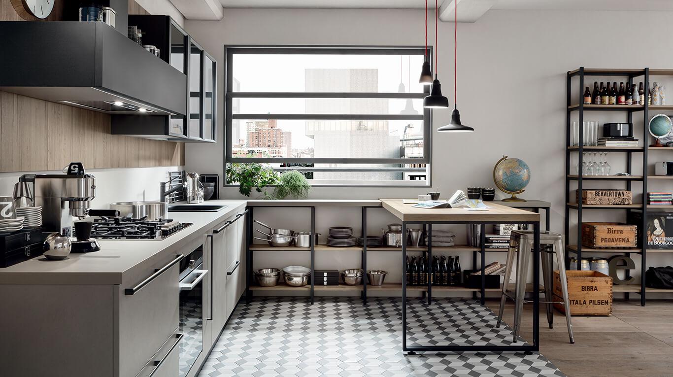 Νεανικά έπιπλα κουζίνας απο την Veneta Cucine-Veneta Avant μοντέλο START TIME