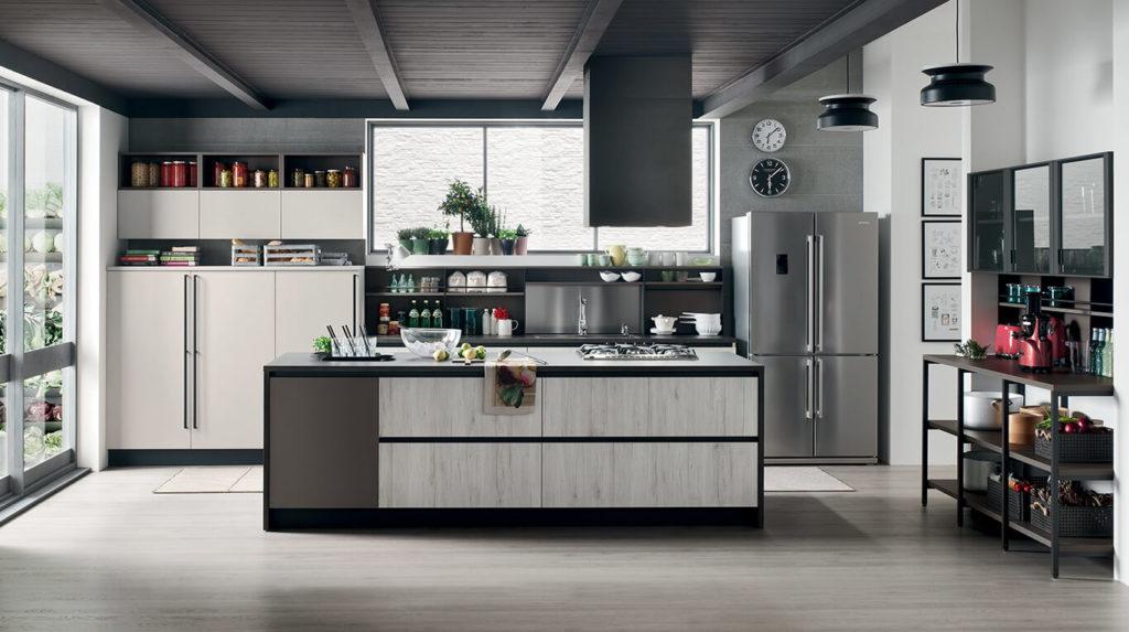 Νεανικά έπιπλα κουζίνας απο την Veneta Cucine-Veneta Avant μοντέλο START TIME J