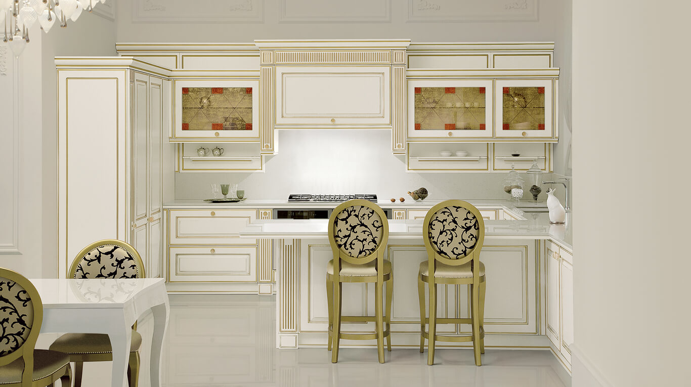 Κλασικά επιπλα κουζινας απο την Veneta Cucine-Veneta Avant μοντέλο mirabeau