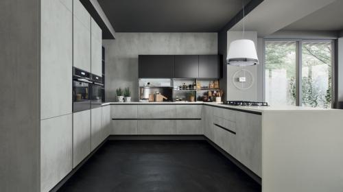 Μοντέρνα επιπλα κουζινας απο την Veneta Cucine-Veneta Avant μοντέλο OYSTER DECORATIVO