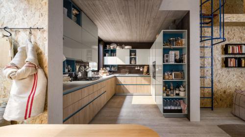 Νεανικά έπιπλα κουζίνας απο την Veneta Cucine-Veneta Avant μοντέλο START TIME GO